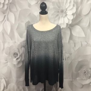 American Eagle Gray/Black Ombré Sweater XL